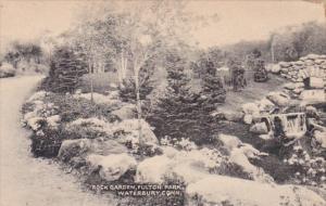 Connecticut Waterbury Rock Garden In Fulton Park