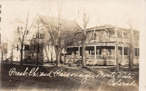 H25/ Monte Vista Colorado RPPC Postcard c10 Presbyterian Church Parsonage