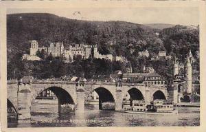 Germany Heidelberg Schloss mit alter Neckarbruecke 1936