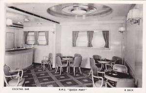 RP, Oceanliner/Steamer/Ship, Cunard White Star Liner Queen Mary, Cocktail B...