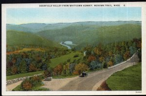 Massachusetts MOHAWK TRAIL Deerfield Valley from Whitcomb Summit - Divided Back