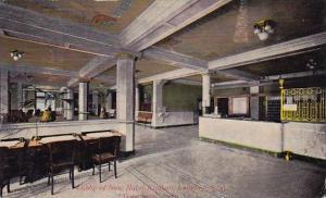 Lobby Of New Hotel Kimball Looking West Davenport Iowa 1912