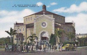 Exterior,  St. Mary's Catholic Church at St. Petersburg,  Florida,  30-40s