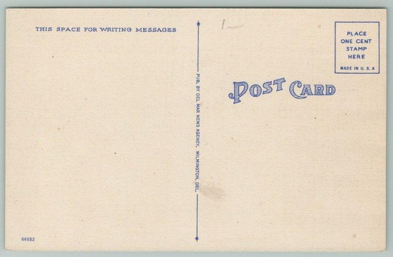 Dover Delaware~Christ Episcopal Church~1940s Linen Postcard