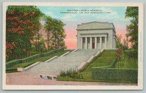Hodgenville Kentucky~Abraham Lincoln Memorial~Vintage Postcard