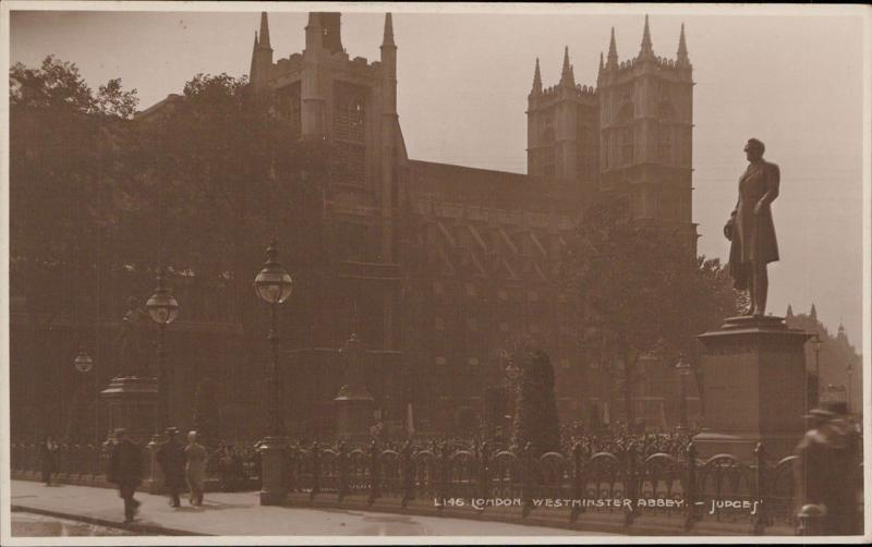 London Westminster Abbey real photograph UK