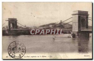 Old Postcard Tarascon Suspension Bridge on the Rhone