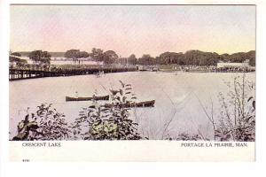 Canoes on Crescent Lake, Bridge, Portage La Prairie, Manitoba, Warwick,
