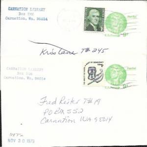 US used Pre-stamped Postcards UX72 Nathan Hall, Patriot