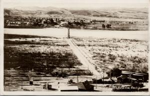 Tijuana Mexico US Boundary Border California CA Birdseye RPPC Postcard E46