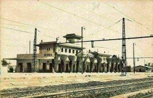 Morocco Meknes La Gare des C. F. M. Station Train Rail Postcard