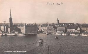 Sweden Old Vintage Antique Post Card Malaresidan Stockholm Unused