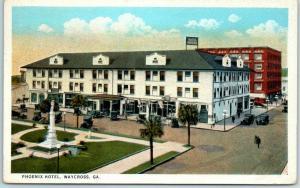 Waycross, Georgia Postcard PHOENIX HOTEL Street View Curteich 1923 Cancel