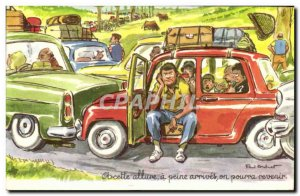 Modern Postcard At this rate has barely arrived we could come back Automobile