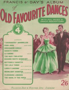 Old Favourite Dances Francis & Days Sheet Music Book