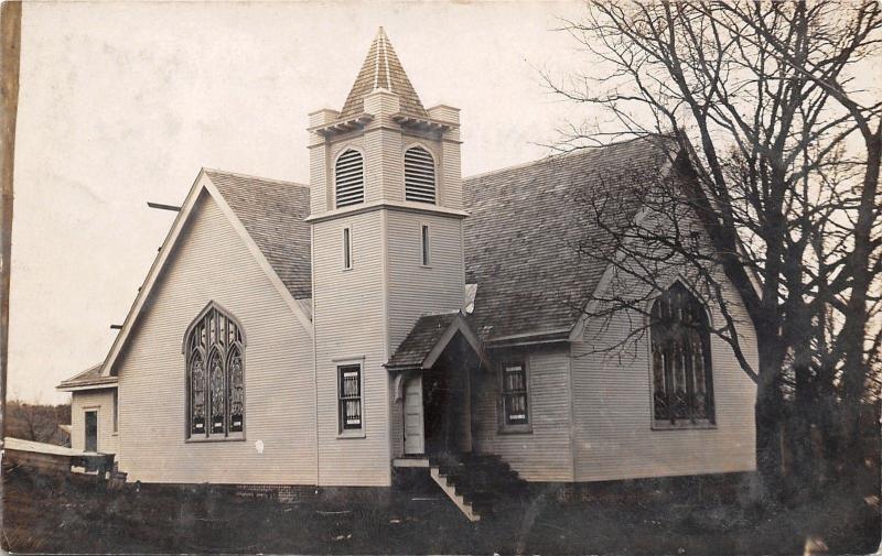Peru Nebraska~New Church~Dedicated Last Sunday~Rena Turner~January 1908 RPPC