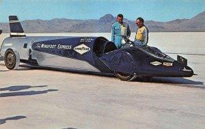 BONNEVILLE SALT FLATS Wingfoot Express Walt Arfons Tom Green Racing Postcard