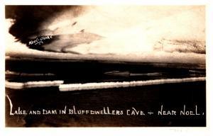 Missouri Noel , Lake and Dam in Bluff Dwellers Cave RPC
