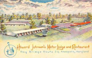 Maryland   Annapolis Howard Johnson´s Motor Lodge Motel