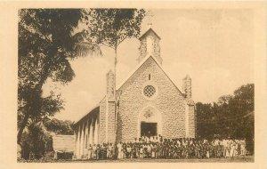 Postcard India Mission des PP Deschausses Eglise d'une nouvelle chretiente