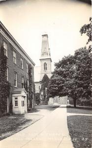 Mount Vernon Iowa~Cornell College Old Sam & Chapel~Alumni Headquarters~'30s RPPC