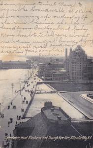 ATLANTIC CITY, New Jersey, PU-1906; Boardwalk, Hotel Blenheim & Young´s New Pier