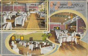 LP16   Denver  Colorado Vintage Postcard Home Dairy Restaurant