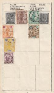 Kenya Malta South Africa Stamp Album Page Bundle Collection