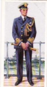 Carreras Vintage Cigarette Card Naval Uniforms No 45 Flag Captain Present Day