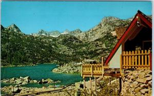 LAKE SABRINA, California  CA    Birdseye View  ca 1950s-60s Inyo County Postcard