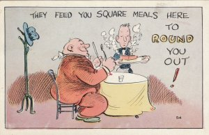 They feed you square meals to round you out , 1938