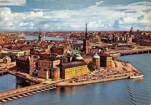 Sweden Stockholm, Riddarholmen Air view General view Panorama