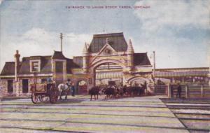 Illinois Chicago Entrance To Union Stock Yards 1908