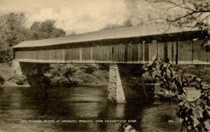 VT - Newbury. Old Covered Bridge over Connecticut River