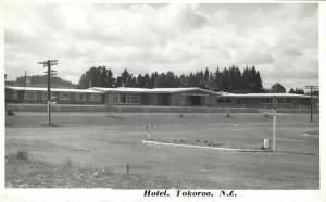 new zealand, TOKOROA, Timberlands Hotel (1950s) RPPC