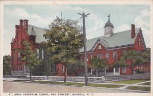 Street view,  St. Anns Parochial School and Convent,  Hornell,  New York,  PU...