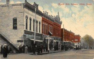 LP08 Albia Iowa Postcard North Side Square