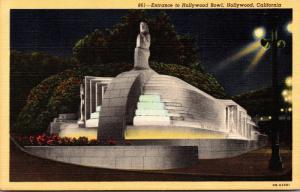 California Hollywood Entrance To Hollywood Bowl Curteich