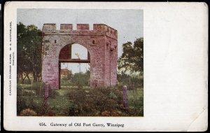 41320) Manitoba WINNIPEG Gateway of Old Fort Garry pub W.G. MacFarlane - Und/B