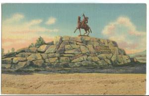 USA, Buffalo Bill Monument, Cody, Wyoming, unused linen Postcard