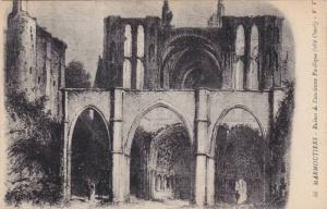 Ruines De l'Ancienne Basilique (Cote Ouest), Marmoutiers (Bas Rhin), France, ...