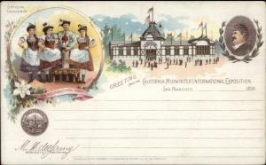 1894 California Midwinter Internaional Expo USED Pioneer Postcard #1 jrf
