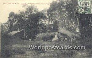 Saigon, Campement de chasseurs en Leine Cochinchine Vietnam, Viet Nam Postal ...