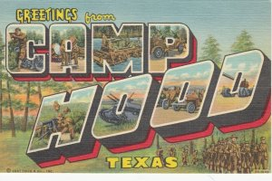 Large Letter CAMP HOOD , Texas , 30-40s