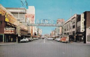 Reno Arch Scene Nevada American Postcard