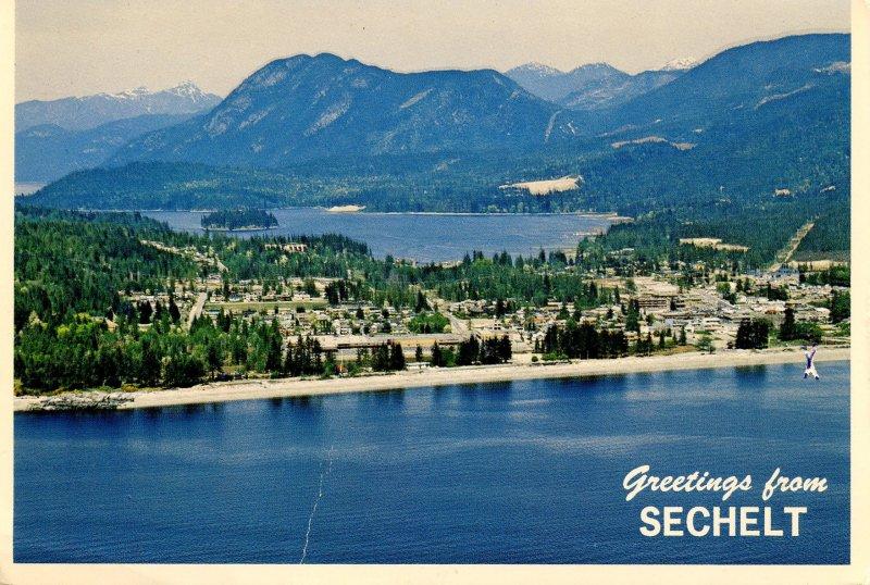 Canada - British Columbia, Sechelt. Aerial View