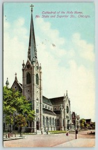 Chicago Illinois~Cathedral of Holy Name~North State & Superior~c1910