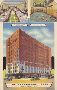 Swimming Pool, Three VIews Of The Ambassador Hotel, Washington D.C., 30-40s