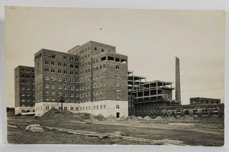 Philadelphia Pa VA Medical Center Under Construction c1930s Postcard R6
