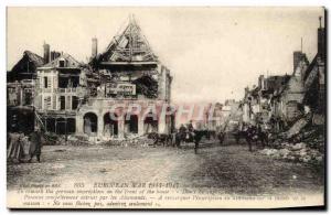 Old Postcard Peronne Army